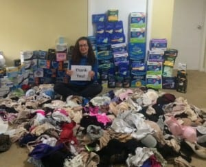 Founder Dana Marlowe with donations
