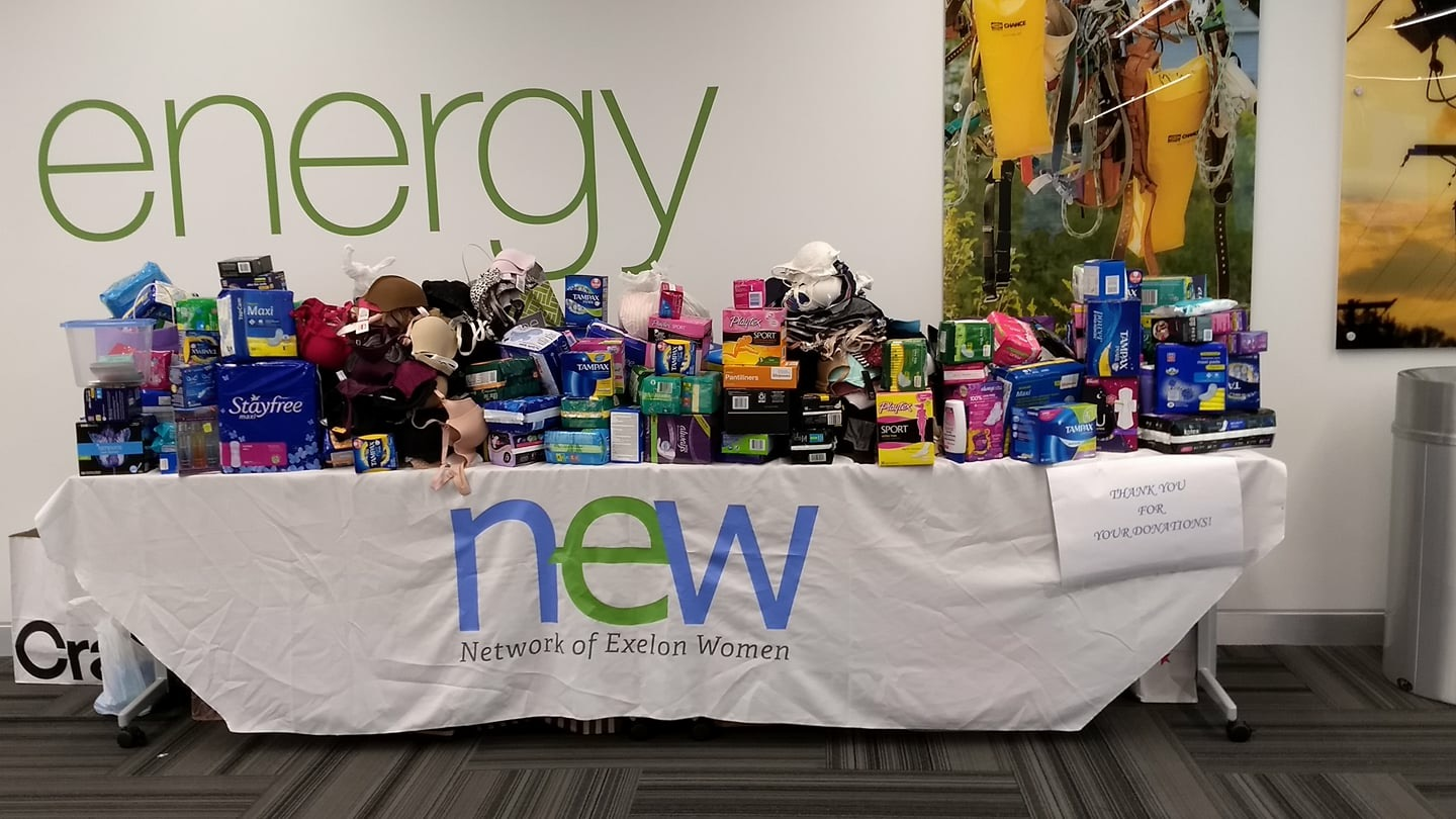 Network of Exelon Women donation drive